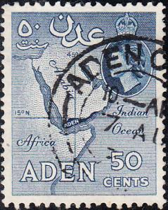 Aden #54a Used    p.12 x 13.5