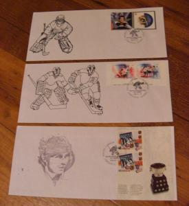 LOT#6 -Canada Special Hockey Stamp show cover-Qtt3 -Goaler - Art Trophy -C$60.00