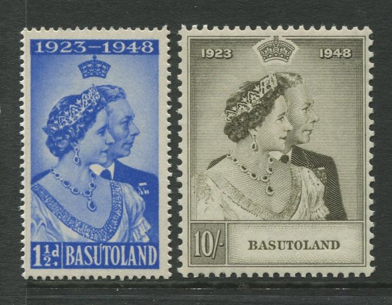 Basutoland - Scott 39-40 -  Silver Wedding Issue-1948 - MNH - Set of 2 Stamps