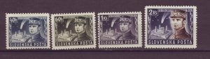 J25487 JLstamps 1939 slovakia mh set #34-7 general military