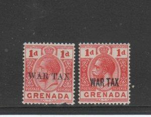 GRENADA #MR1-MR2  1916  WAR TAX     MINT  VF LH  O.G