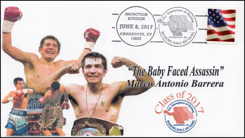 17-122, 2017, Marco Barrera, Boxing Hall of Fame, Induction, Event Cover