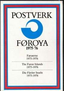 FAROE ISLANDS 1975-76 OFFICIAL YEAR PACK MINT NH