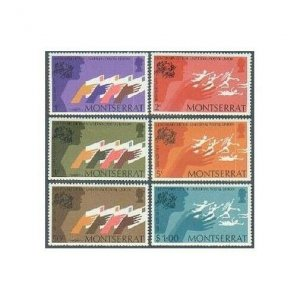 Montserrat 306-311,MNH.Michel 305-310. UPU-100,1974.Letters,UPU monument figures