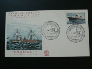 ship boat paquebot France French Line FDC 57118