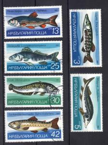 Bulgaria 1983 used freshwater fish complete