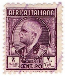 (I.B) Italy (Africa Colonies) Revenue : Marca da Bollo 20c (perf 11 x 13.5)