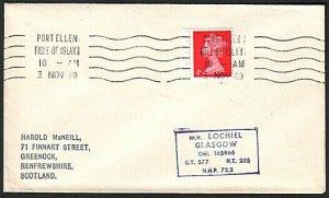 GB SCOTLAND 1969 Cover Clyde Steamer cachet M.V.LOCHIEL....................13778