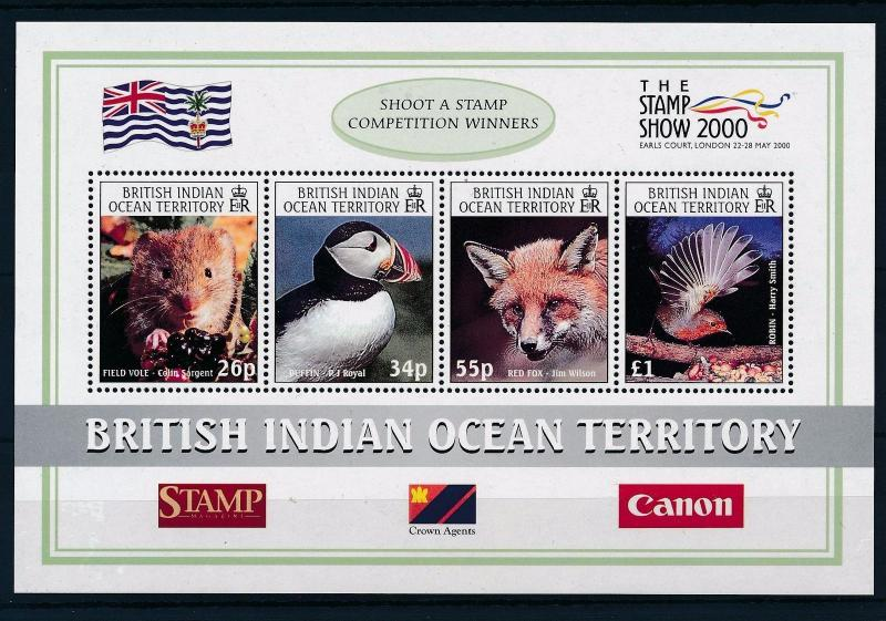 [29995] British Indian Ocean Territory 2000 Birds Vögel Oiseaux Fox MNH Sheet