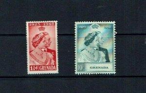 Grenada: 1948 Royal Silver Wedding, Mint very lightly hinged.