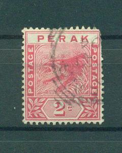 Malaya - Perak sc# 43 used cat value $.40