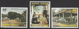 French Polynesia #414-16, MNH set, early Tahiti, Issued 1985