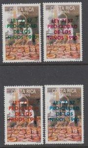 Costa Rica RA106-RA109 MNH VF