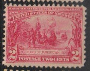 U.S. Scott #329 Founding of Jamestown Stamp - Mint NH Single