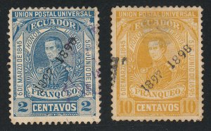 Ecuador - 1897 - SC 116-17 - Used - Stains on back