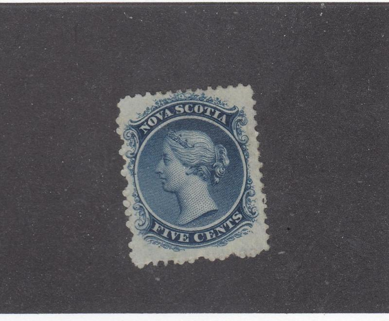 NOVA SCOTIA REF# KM20 # 10  F-MH 5cts QUEEN VICTORIA BLUE CAT VALUE $250