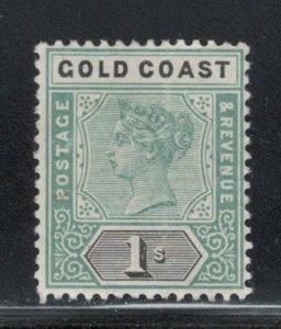 Gold Coast 1898 Queen Victoria 1sh Scott # 32 MH