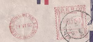 PERU: 4 meter stamp covers incl DOUBLE Censor & Ford Advert