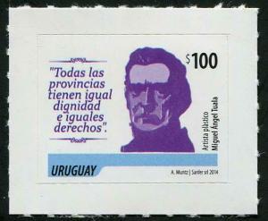 HERRICKSTAMP URUGUAY Sc.# 2467 Artigas 2014 $100 Self-Adh.