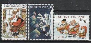 1996 Finland - Sc 1023-5 - MNH VF - 3 single - Christmas