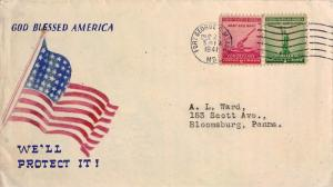 United States Maryland Fort George G. Meade 1941 machine  1941-1941  God Bles...