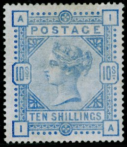 SG183a, 10s pale ultramarine, M MINT. Cat £2500. IA