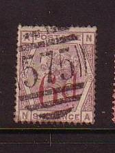 Great Britain Sc95 1883 6d on 6 d Victoria stamp