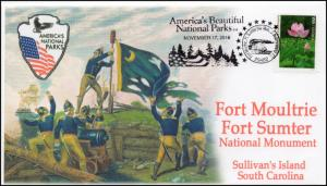 17-404, 2017, Fort Moultrie, Fort Sumter, National Park, Pictorial, Event Cover,