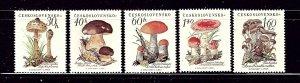 Czechoslovakia 882-86 MH 1958 Mushrooms