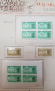 L) 1962 HUNGARY, TONED, FIGHT AGAINST MALARIA, MOSQUITO & EMBLEM, PERFORATED AND