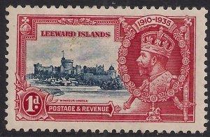 Leeward Islands 1935 KGV 1d Silver Jubilee MM SG 88 ( D446 )