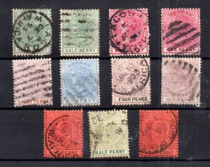 Lagos QV-KEVII unchecked used collection WS16238
