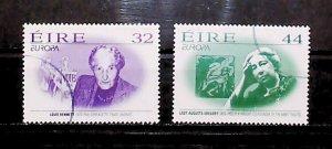 Ireland 1996 Europa Famous Women Bennett Ordinary Gum Used Full Set A22P20F9038
