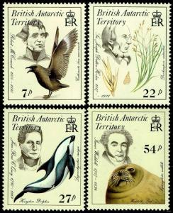 British Antarctic Territory #125-28  MNH - Naturalists, Fauna and Flora (1985)
