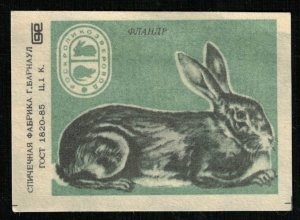 1985, Rabbit Parody: Flandre, Matchbox Label Stamp (ST-122)