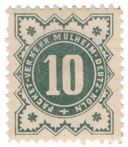 (I.B) Germany Local Post : Cologne 10pf (Mulheim-Deutz)