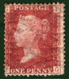 GB QV Stamp SG.43/44 1d Penny Red Plate 174 (1873) Mint MM OG* Cat £50 ORANGE290