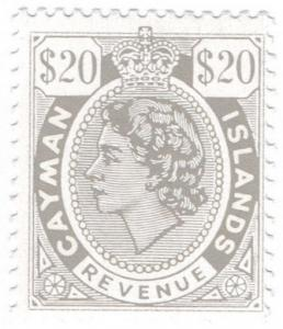 (I.B) Cayman Islands Revenue : Duty Stamp $20