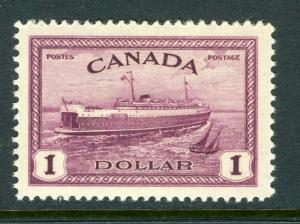 Canada #273  $1 Value  (Mint NEVER HINGED) cv$45.00