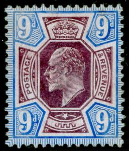 SG251a SPEC M40(3), 9d slate-purple & ultramarine (CHALKY), LH MINT. Cat £90.