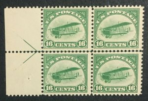 MOMEN: US STAMPS #C2 ARROW BLOCK MINT OG NH LOT #71677
