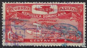 DOMINICAN REPUBLIC C3 USED, $4.00 BIN $1.60 MAP