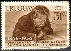 President Jose Batlle y Ordonez, Uruguay stamp SC#C171 used