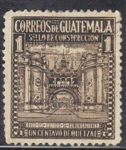 GUETEMALA SC# RA19 **USED** 1c  1942  ARCH OF COMM. BUILDING   SEE SCAN