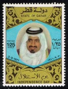 Qatar #320 Sheik Khalifa bin Hamad al-Thani; Unused (14.00)