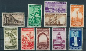TURKEY/1938 - INTERNATIONAL IZMIR FAIR SET, MNH, Mi: 1019/1028, Sc# 789/798