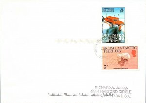 BRITISH ANTARCTIC TERRITORY ARCTIC ANTARCTIC POLAR CANCEL / CACHET #107