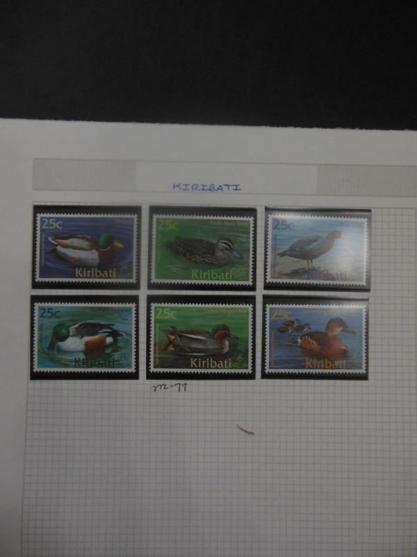 KIRIBATI : Beautiful collection. All Very Fine, Mint NH. Topicals. Scott Cat $82