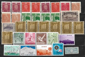 COLLECTION LOT OF 35 JAPAN MH 1937+ STAMPS CLEARANCE CV+$27