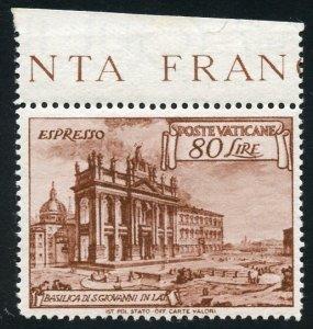 Vatican City Scott E12a MVFNHOG - St. John Basilica Special Delivery -SCV $55.00